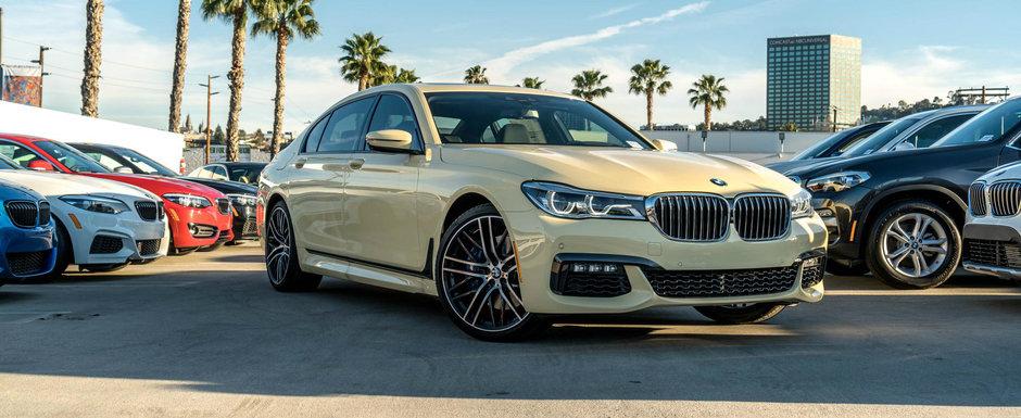 Este unic in lume si mai are si o reducere de 10.000 dolari. Uite cu cat se vinde acest BMW Seria 7 cu motor V8