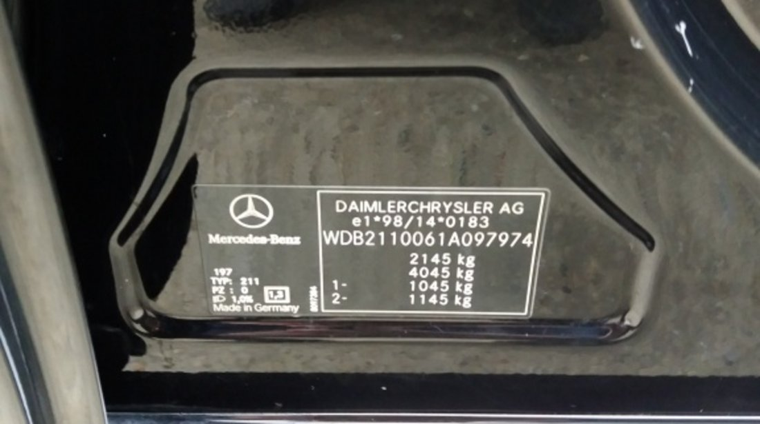 Etrier frana dreapta spate Mercedes E-CLASS W211 2002 berlina 2.2