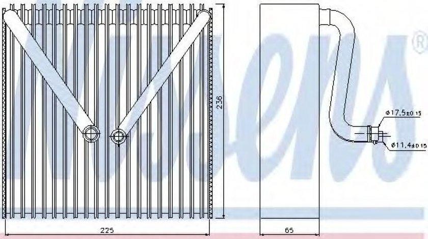 Evaporator,aer conditionat SKODA FABIA I (6Y2) (1999 - 2008) NISSENS 92191 piesa NOUA