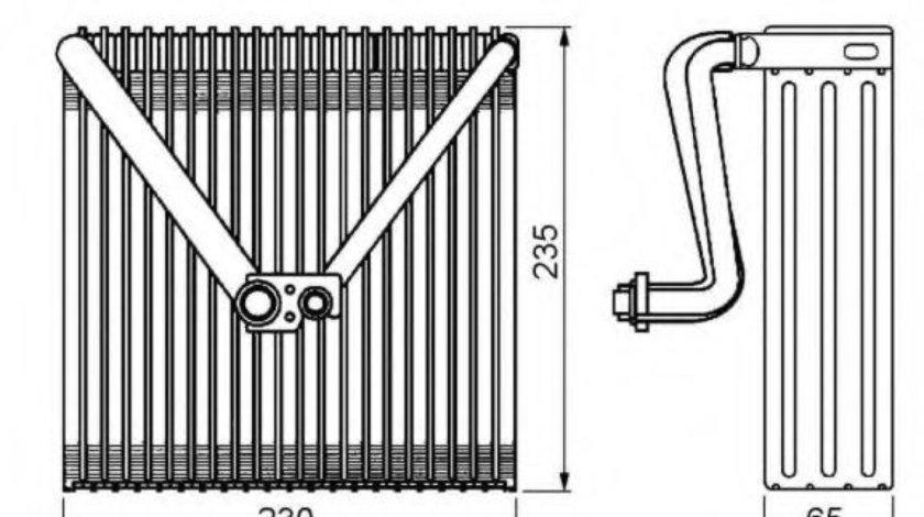 Evaporator,aer conditionat SKODA FABIA II (2006 - 2014) NRF 36141 piesa NOUA