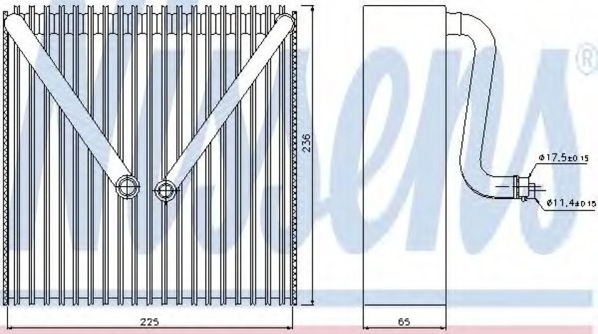 Evaporator,aer conditionat SKODA FABIA II (2006 - 2014) NISSENS 92191 piesa NOUA