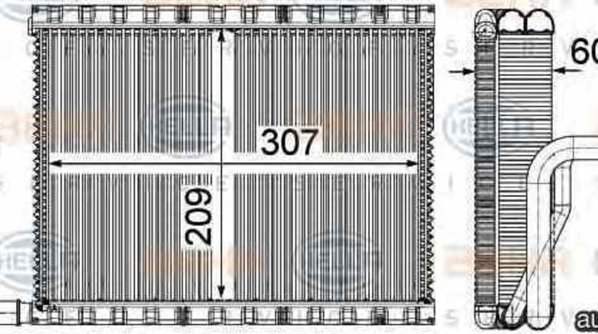 Evaporator / Vaporizator aer conditionat BMW 5 F10 F18 HELLA 8FV 351 331-111