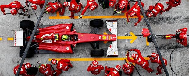 Evolutia spectaculoasa a opririlor la boxe din Formula 1