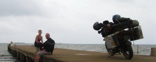 EXCLUSIV! Los Angeles - Patagonia: 2 romani pe motocicleta!