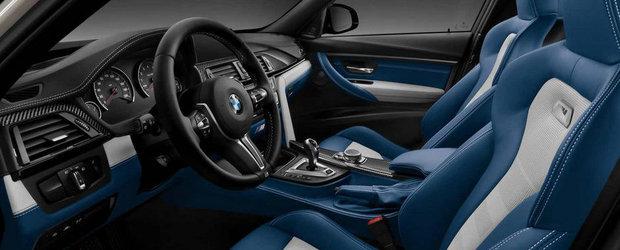 Extravagant sau exagerat? M3 cu interior gri si albastru de la BMW Individual