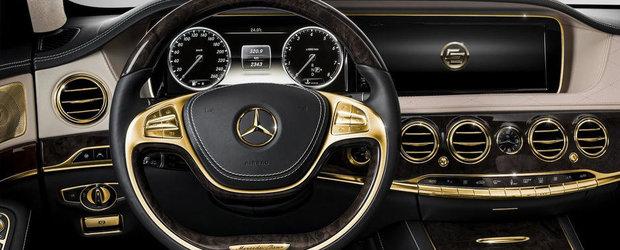 Extravaganta sau prost gust? Mercedes S-Class cu accesorii din aur de 24 karate
