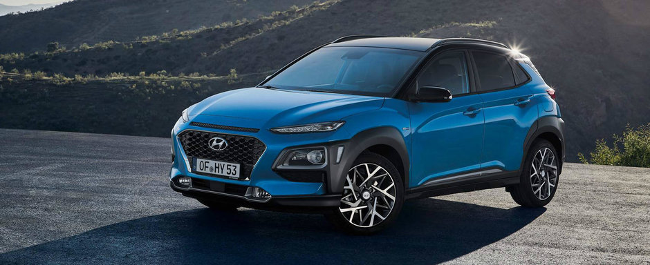 Fa cunostinta cu noua Hyundai Kona Hybrid. SUV-ul coreenilor promite 141 CP si consum de 3.9 litri
