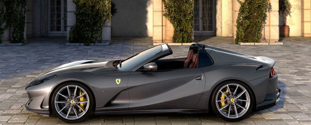 Fa cunostinta cu noul Ferrari 812 GTS. Cea mai puternica decapotabila de serie pe care lumea a vazut-o