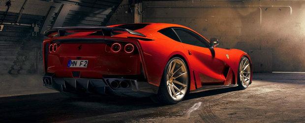 Fa cunostinta cu noul N-Largo de la Novitec. Un Ferrari pe steroizi, cu interior mov si bodykit latit