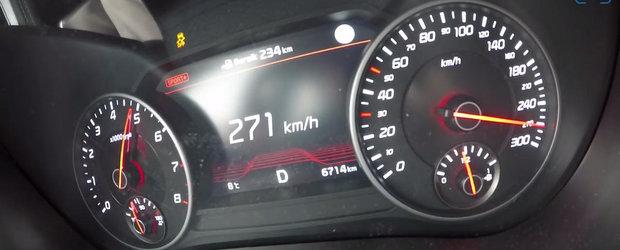 Face 4,9 secunde pana la suta si atinge 270 km/h. VIDEO onboard cu noua masina de 370 CP de la Kia