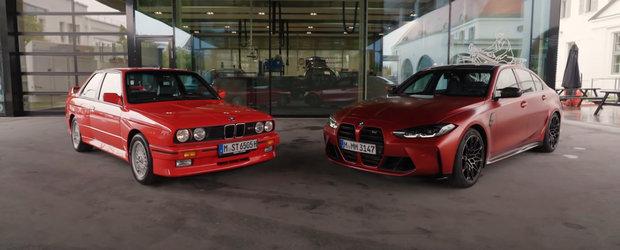 Fanii BMW plang, cel mai probabil, in hohote. Cum arata noul M3 in comparatie cu modelul original