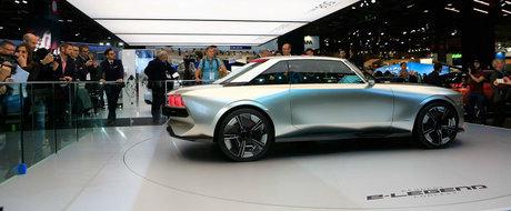 Fanii s-au inghesuit sa-l vada. Cum arata Peugeot e-Legend, coupe-ul cu aspect retro si dotari moderne