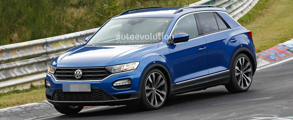 Fanii Volkswagen se roaga deja sa intre in productie. Noul T-Roc R de 310 cai iese in premiera in teste