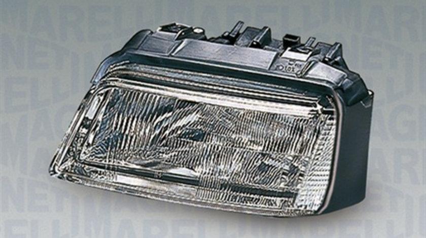 Far dreapta (H1/H7, reglaj electric, fundal cromat) AUDI A4 1994-1999