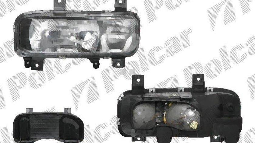 Far Mercedes Atego (712-1528)/(1823-2628) 1998- DEPO partea Dreapta, tip bec H1+H4, reglaj electric Kft Auto