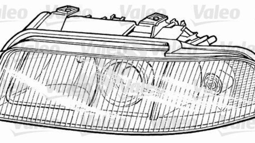 Far stanga (D2S/H7, reglaj electric, fundal cromat) AUDI A4 1998-2001