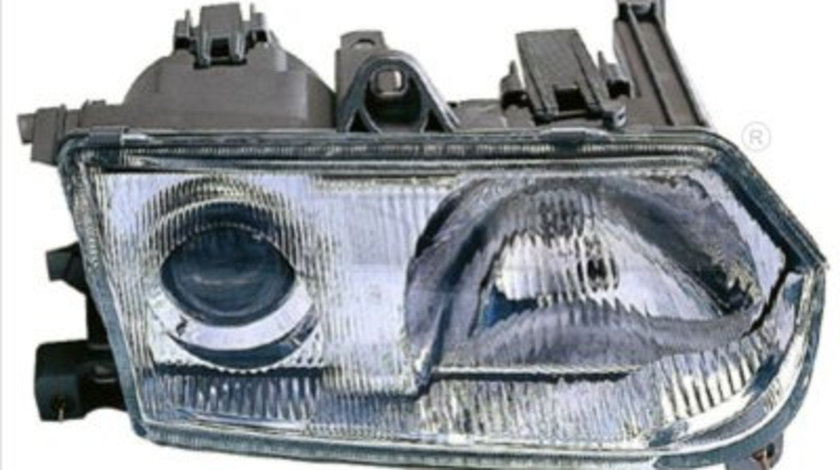 Far stanga (H1, reglaj electric, manual, fundal cromat) ALFA ROMEO 145, 146 1994-2001