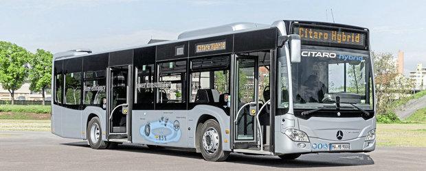 Fara alte turcisme pe strazi. Primaria Capitalei anunta achizitia a 130 de autobuze hibrid Mercedes-Benz