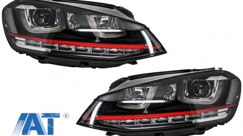 Faruri 3D LED compatibil cu VW Golf 7 VII (2012-2017) R20 GTI Design Semnal Dinamic LED