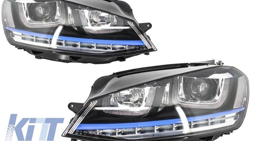 Faruri 3D LED Volkswagen Golf 7 VII (2012-up) GTE Design Semnal LED