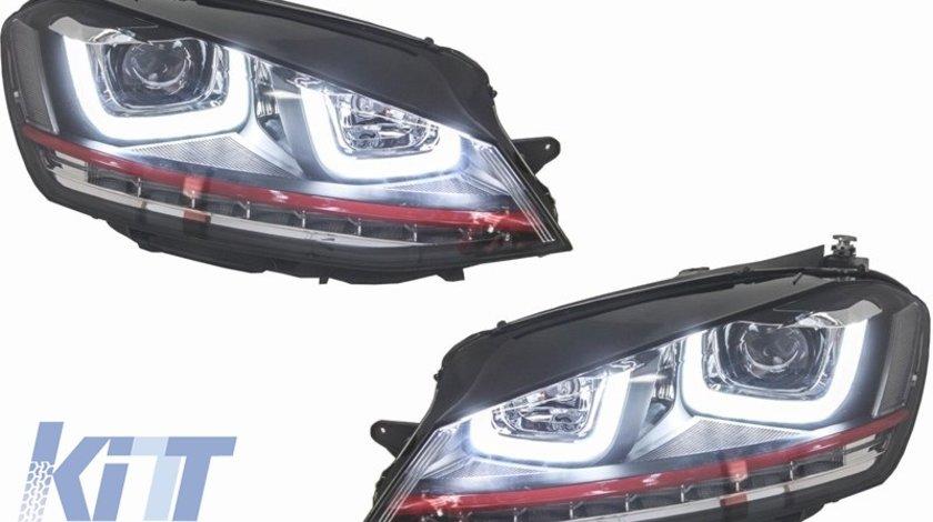 Faruri 3D LED Volkswagen Golf 7 VII (2012-up) R20 GTI Design Semnal LED