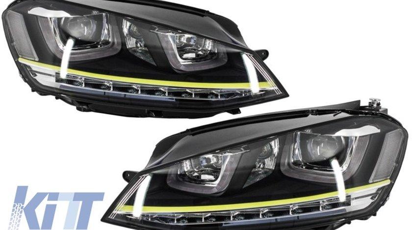 Faruri 3D LED Volkswagen Golf 7 VII (2012-up) R400 Design Semnal LED
