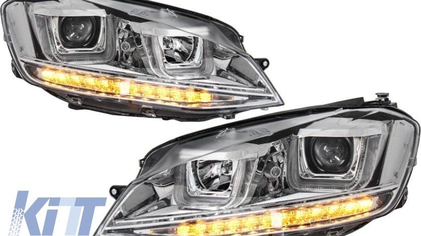 Faruri 3D LED Volkswagen Golf VII (2012-up) R-Line Chrome
