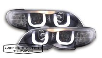 Faruri Angel Eyes 3D cu lupe BMW E46 FACELIFT (200...