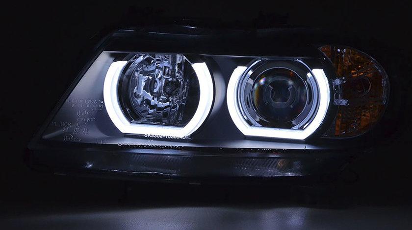 FARURI ANGEL EYES 3D LED BMW E90/E91 (05-11) BLACK