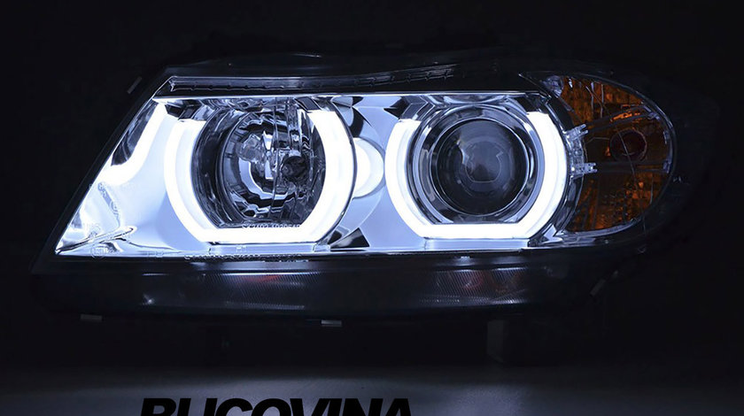 FARURI ANGEL EYES 3D LED BMW E90/ E91 (05-11) CROM