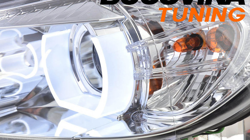 FARURI ANGEL EYES 3D LED BMW E90/ E91 (05-11) CROM