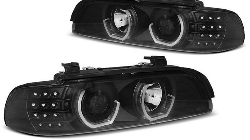 Faruri Angel Eyes 3D LED BMW Seria 5 E39 (1995-2003)