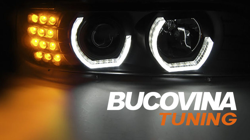 Faruri Angel Eyes 3D LED BMW Seria 5 E39 (95-03)