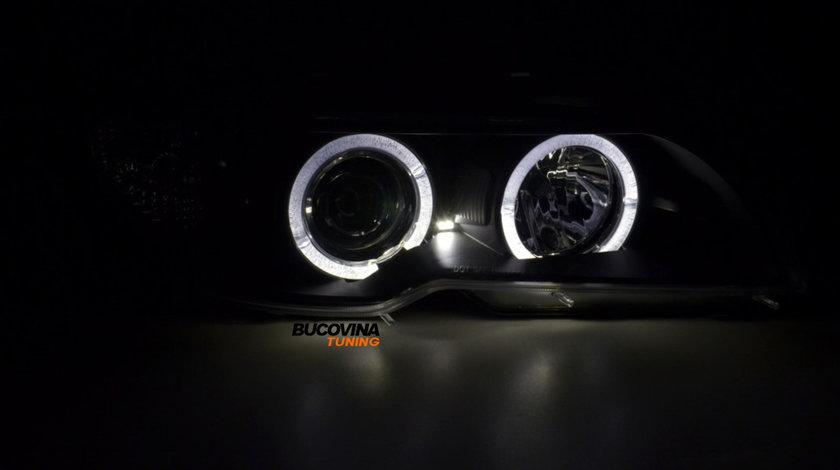 Faruri angel eyes BMW E46 Coupe (03-05) Fundal Negru
