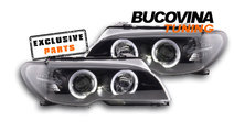 Faruri angel eyes BMW E46 Coupe (03-05) Fundal Neg...
