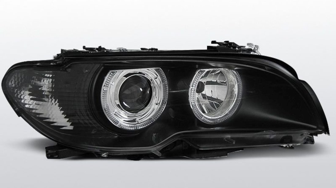 Faruri angel eyes BMW E46 coupe facelift