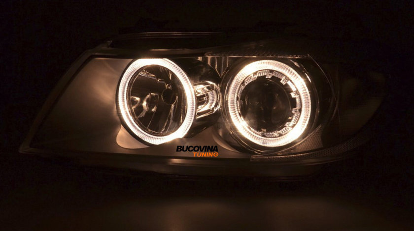 FARURI ANGEL EYES BMW E90/ E91 (05-11) BLACK DEPO