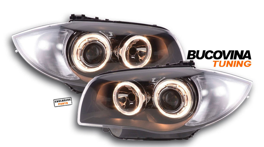 FARURI ANGEL EYES BMW SERIA 1 E87/ E81/ E82/ E88 (04-11) BLACK