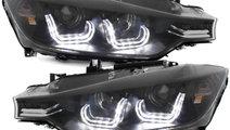 Faruri Angel eyes BMW Seria 3 F30 2012-2014 interi...