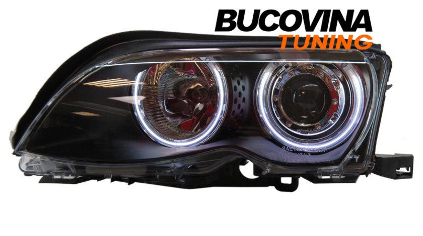 FARURI ANGEL EYES CCFL BMW SERIA 3 E46 (01-04) FUNDAL NEGRU