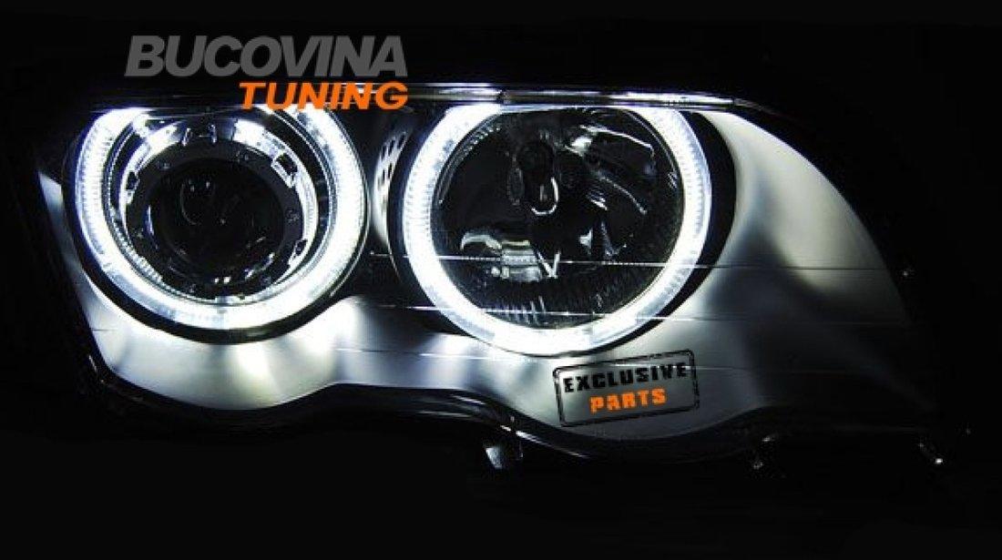 FARURI ANGEL EYES LED BMW E46 4D (98-01) BLACK