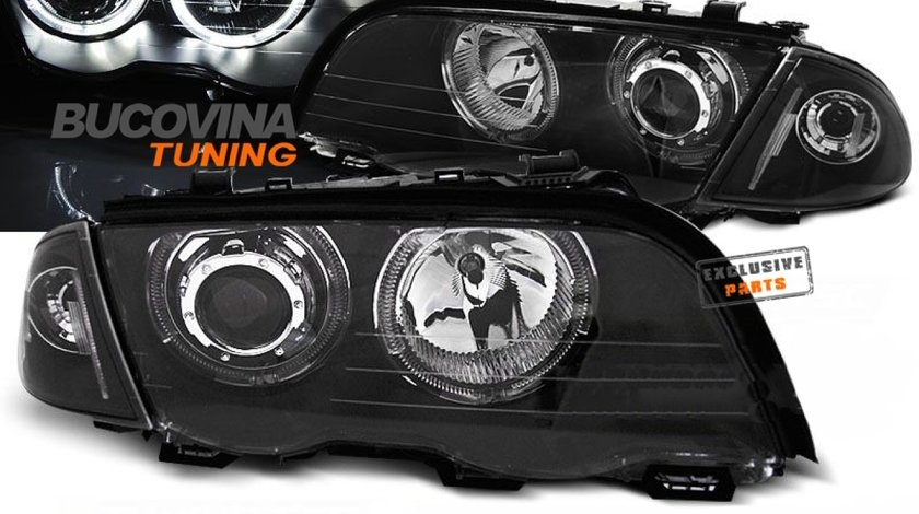 FARURI ANGEL EYES LED BMW E46 4D (98-01) BLACK