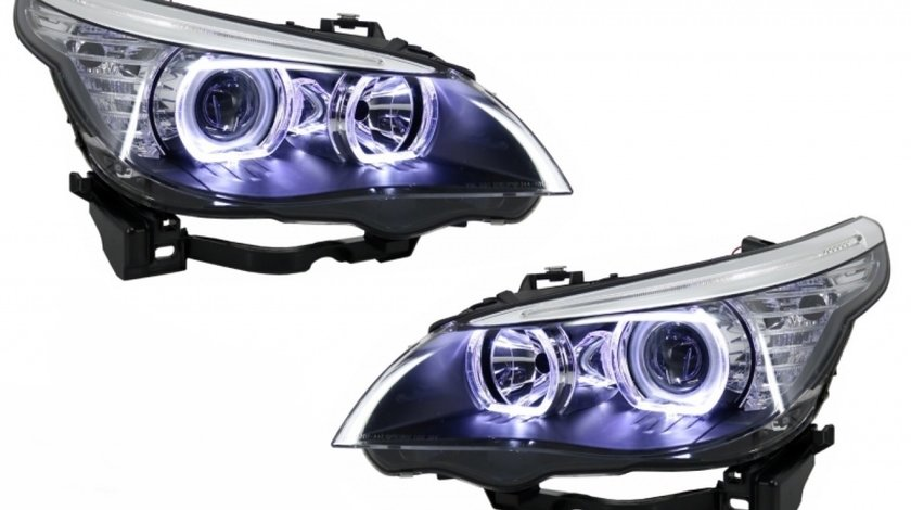 Faruri Angel Eyes LED BMW E60 seria 5