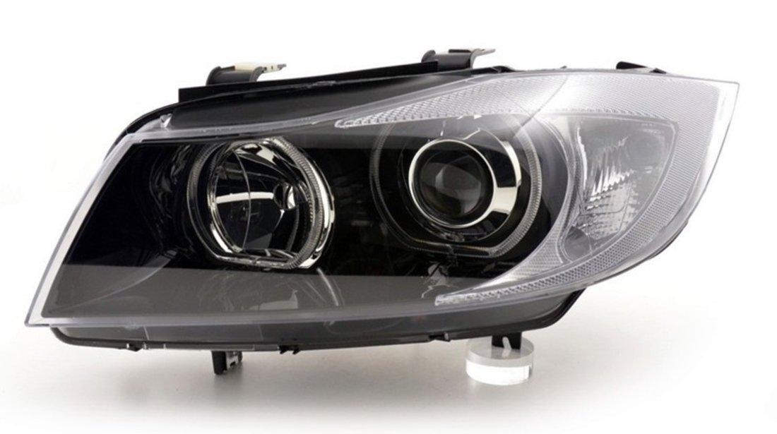 Faruri Angel Eyes LED BMW Seria 3 E90/E91 (2005-2011)
