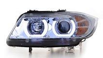 Faruri Angel Eyes LED BMW Seria 3 E90/E91 (2005-20...