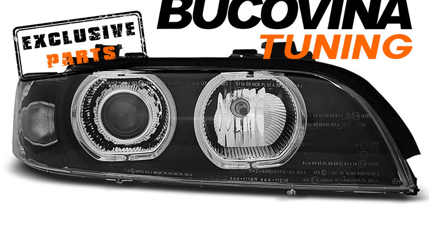 Faruri Angel Eyes LED BMW Seria 5 E39 (95-03) Xenon