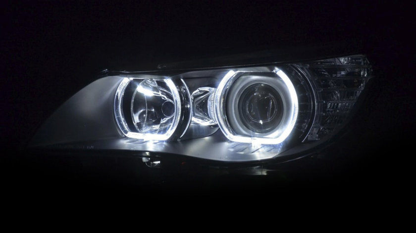 Faruri Angel Eyes LED BMW seria 5 E60