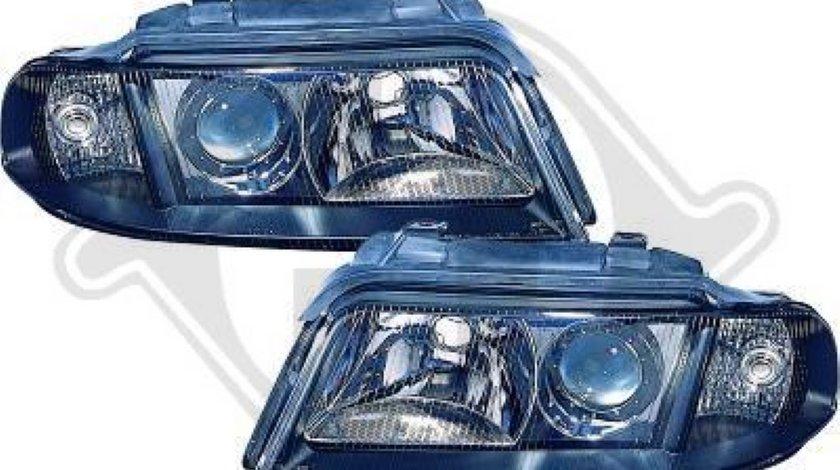 Faruri Angel Eyes Pentru Audi A4 B5 Fundal Negru