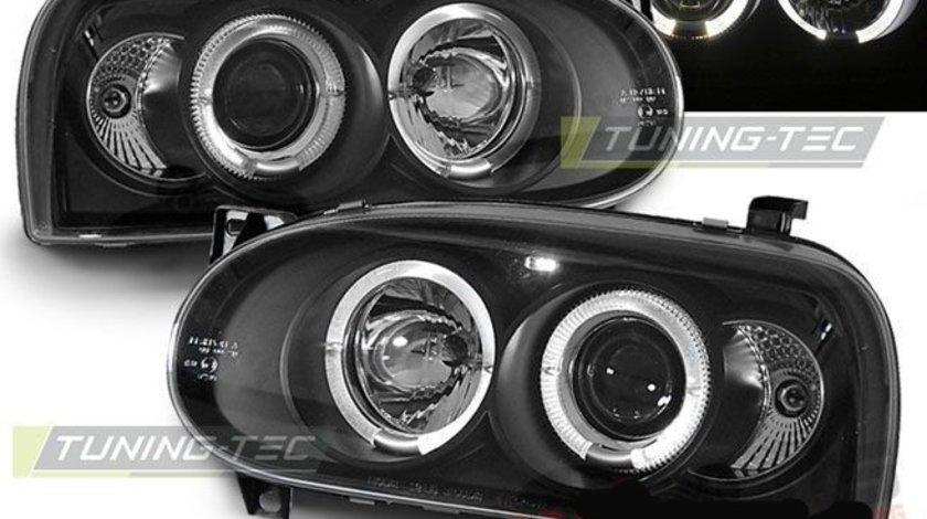 Faruri Angel Eyes pentru Volkswagen Golf III