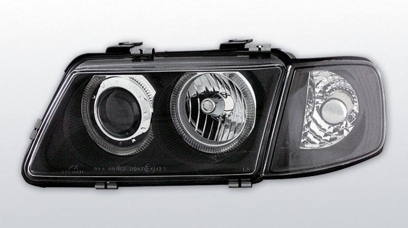 Faruri Audi A3 1996-2000 Angel eyes Negru